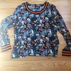 Anthropologie Floral silk shirt